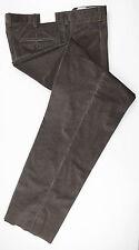 New. BRIONI Brown Check Cotton Blend Casual Pants Size 52/36 $550