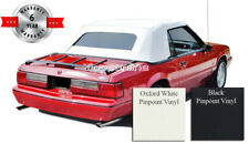 Ford Mustang Convertible Soft Top with Glass Window & Inst. Video Vinyl 91-93