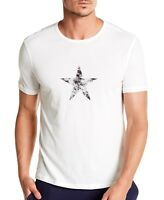 John Varvatos Star USA Men's Faded Star Graphic Crew T-Shirt Salt $88 msrp NWT