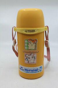Tottoko Hamtaro Tiger Stainless Steel Water Bottle with Cup 0.6 liter Orange