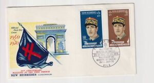 New Hebrides  20th Anniversary Free French De Gualle  FDC 1970
