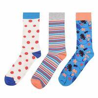 Mens Happy Socks 3PK Stripe Novelty New