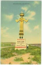 c1940s Gallup New Mexico huge Katchina Doll welcome sign Route 66