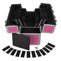 Werkzeugkoffer für Frauen 24L Präsentationskoffer Etagenkoffer Pink Schlüssel