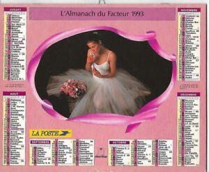 Almanach 1993 Calendrier de la poste PTT - HAUTE-SAONE 70  & Ter. de BELFORT 90