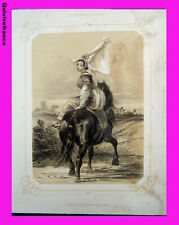 """Litho """"La Normandie illustrée"""" Jeune fille Avranches (Manche) - Signé Lalaisse"""