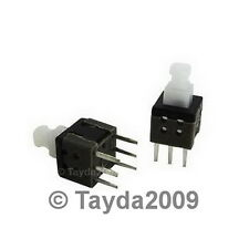 3 x PUSH BUTTON SWITCH MOMENTARY ON/OFF DPDT 0.5A 50VDC 8x8mm - FREE SHIPPING