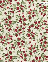 Glamour Red Roses Cotton Quilt fabric Timeless Treasures 5047 Tiny Rose on Cream
