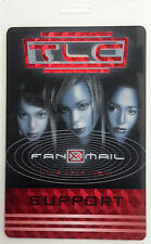 *** TLC *** SUPPORT - LAMINATED TOUR BACKSTAGE PASS - 1999 - 2000 FAN MAIL TOUR