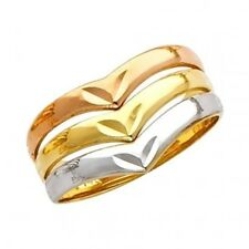 "14K Tricolor Gold D/C Seven Day ""Semanario"" Fancy Lady's Polished Wrap Ring"