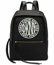 H92 DKNY Black Womens Tilly Circa Logo Neoprene Backpack Bag
