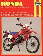 Honda XL-XR 80, 100, 125, 185 and 200 Owners' Workshop Manual, No.-ExLibrary