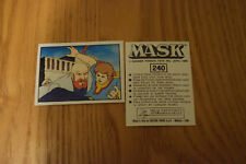 Mask Panini sticker 1986 ( M.A.S.K.  Kenner parker toys ) number 240