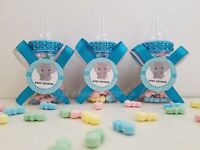Baby Shower 12 Elephant Favor Fillable Bottles Prizes Games Boy Blue Decorations