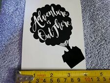 Car Window Decal - Disney Up House balloons, Adventure is out... Vinyl Sticker