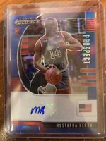 2020-21 PANINI PRIZM DRAFT PICKS ROOKIE RC BLUE AUTO MUSTAPHA HERON #54/149!!