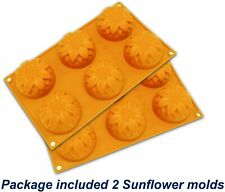 2 Pcs Sunflower 6-Cavity Silicone Soap Mold for Handmade DIY Mould USA Seller