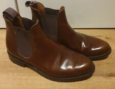 Vtg Loake 790T Polished Brown Leather Chelsea Ankle Boot's Men's Formal UK 8