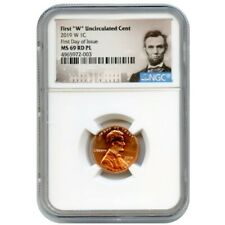 2019 W 1C LINCOLN CENT UNCIRCULATED NGC MS69 RD PL FIRST DAY OF ISSUE 4965972003
