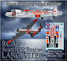 1/72 RCAF Search & Rescue Lancaster model decal /resin set.