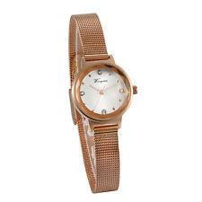 Women Girl Waterproof Watch Ultra-thin Stainless Steel Mesh Band Quartz Bracelet