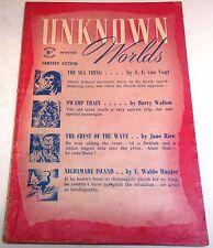 Unknown Worlds – UK Pulp – Winter 1947 – Vol.3 No.11 - A.E. van Vogt, Sturgeon