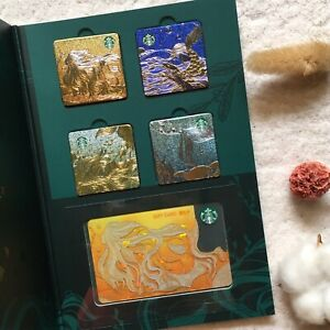 China 2019 Brown Mermaid Starbucks Cards + 4 Magnets Set