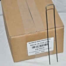 """Glamos Landscape Staples 10""""x1""""x10"""" Galvanized Steel 500-Pack Stakes 83210"""