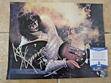 Kiss Ace Frehley Signed Autographed 11x14 Live Photo Beckett Certified #1