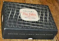 Vintage Spicers Plus Fabric Writing Paper Box - Empty