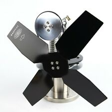 STOVE TOP FAN (Heat powered STIRLING ENGINE), Wood Burner, ECO - SIDEWINDER -BLK