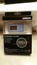 Omron Pedometer with USB HJ-322U, Tri-Axis Technology, Blue,  NEW