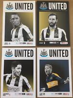 Four Newcastle United Programmes - 2017 Championship Year - New Unread