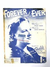 SHEET MUSIC Forever and Ever Gracie Fields DECCA RECORDS 1947 Poster Artwork