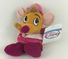 Disney Store Cinderella Suzy Mouse Pink Bean Bag Plush Stuffed Toy Vintage w Tag