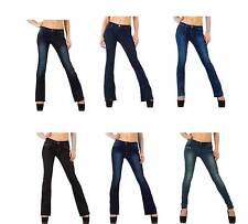 L32 Markenlose Damen-Jeans im Gerades Bein-Stil