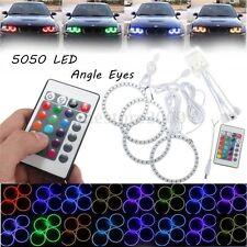 4x Multicolor RGB 100MM 5050 SMD LED Flash Angel Eye Halo Ring IR Remote Control