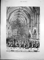 Old Antique Print Jubilee Banquet Law Society Royal Courts Justice 1887 19th
