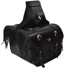 Bolsa SILLIN UNIVERSAL MOTOCICLETA MOTO Aqwa Par de calidad superior de cuero, Negro