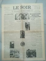 Fac similé Journal LE SOIR 30 SEPTEMBRE 1938