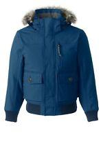 NEU - Lands End Expeditions- Daunen Bomberjacke für Herren Down Jacket Blau