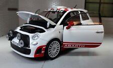 LGB G escala 1:24 FIAT 500 Abarth Blanco Rally R3T 2009 Motormax