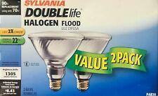 2 SYLVANIA 90-Watt Double-Life PAR38 Capsylite Halogen Flood Bulbs - 1305 Lumens