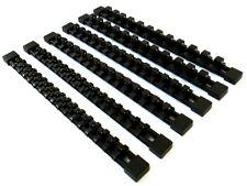 6 GOLIATH INDUSTRIAL MOUNTABLE SOCKET RAIL HOLDER ORGANIZER BLACK 1/4 3/8 1/2