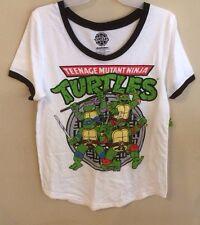 Ladies TMNT Team White Tee Shirt XXL 19 JNR Teenage Mutant Ninja Turtles Movie