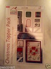 Create and Craft Christmas Topper Pack Foiled and Die Cut Perfect for Cards 5758