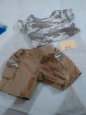 b114 build a bear clothes outfit used military camouflage Camo army