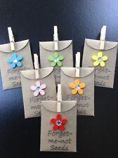 6 X Mini Forget-me-not Envelopes & 6 X Mini Pegs. Birthday Dementia Anniversary