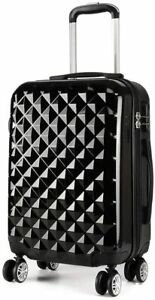 Budget Airline Hard Cabin 4 Wheels Spinner Trolley Luggage Suitcase Bag Case
