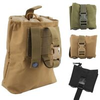 Hunting Tactical Molle Foldable Magazine Mag Dump Ammo Drop Pouch Utility Bag
